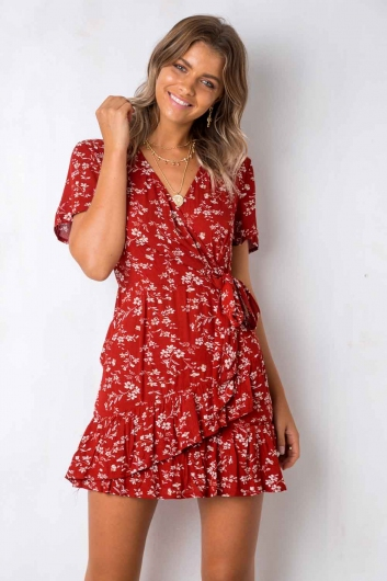 ba45a70db77 Had It All Dress - Red Floral - STELLY