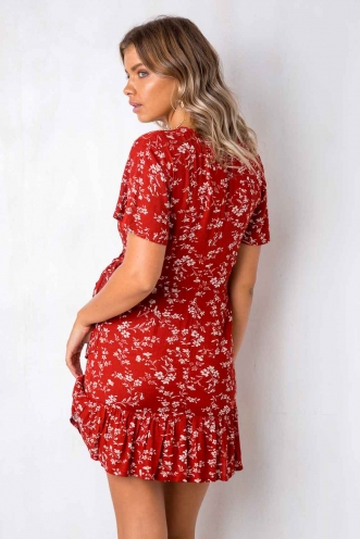 Had It All Dress - Red Floral
