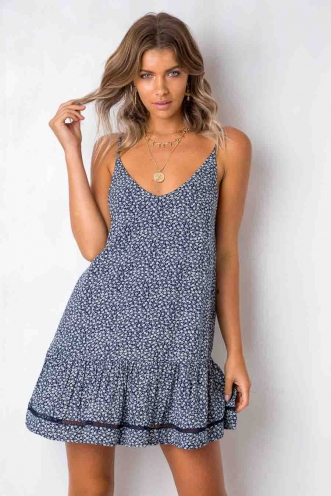 Bobbi Dress - Navy Floral