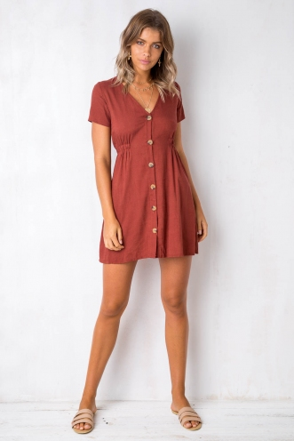 Light Loving Dress - Terracotta