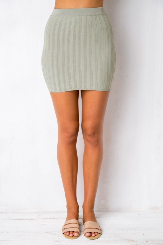 Gotcha Skirt - Light Khaki