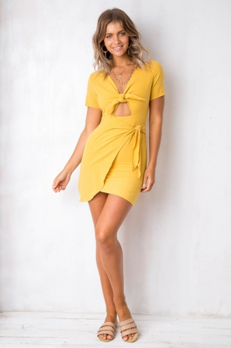 Manhattan Dress - Mustard