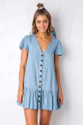 Rose Thorn Dress - Blue