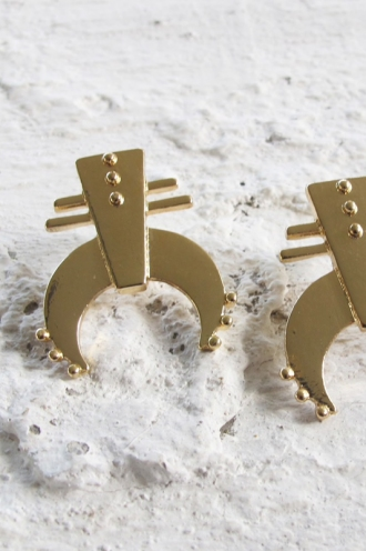 Minc Collections - Shadow Earrings - Gold