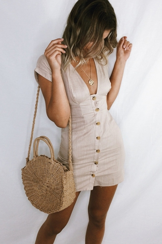 Day After Day Dress - Beige