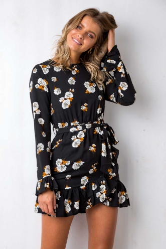 Mad About You Dress - Black floral