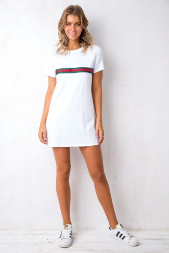 Precious Things T Shirt Dress - White