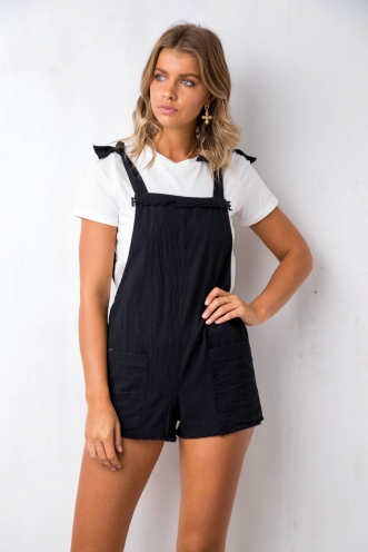 Love Song Playsuit - Black
