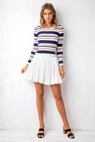 State Of Mind Skirt - White