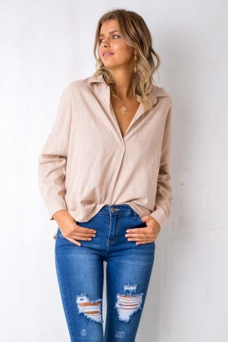 Modern Love Top - Beige
