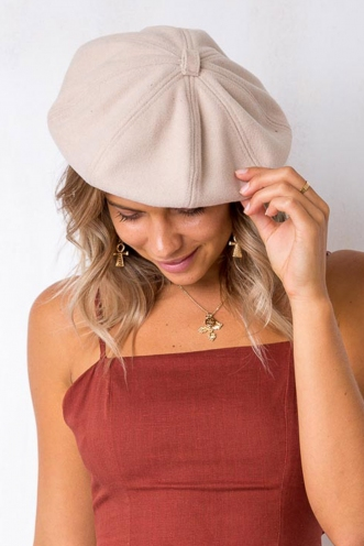 French Riviera Beret - Cream