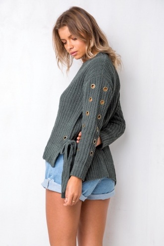 Apple Of The Eye Jumper - Khaki