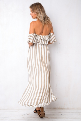 Favourite Things Dress - Mocha Stripe