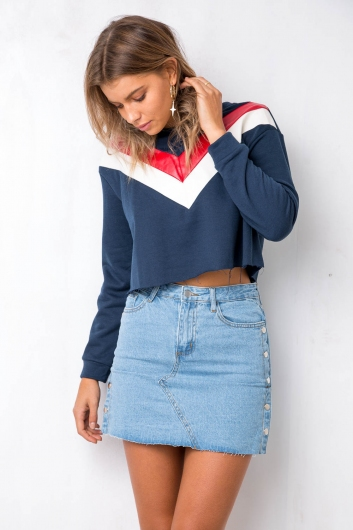 Alley-Oop Top - Navy/Red/White