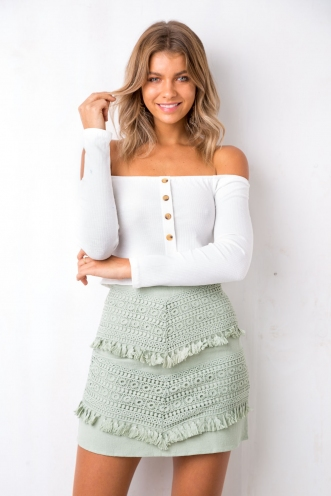 By The Road Skirt - Pistachio