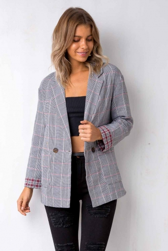 Going Home Blazer - Houndstooth Check