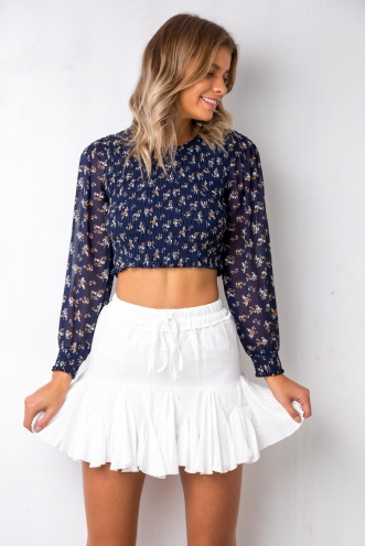Field of Dreams Top - Navy Floral