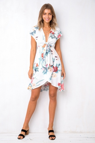 Cherry On Top Dress - White Floral
