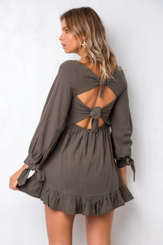 Bye Girl Dress - Khaki