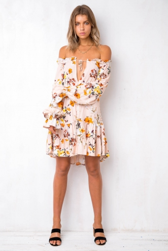 Breezy Days Dress - Nude Floral