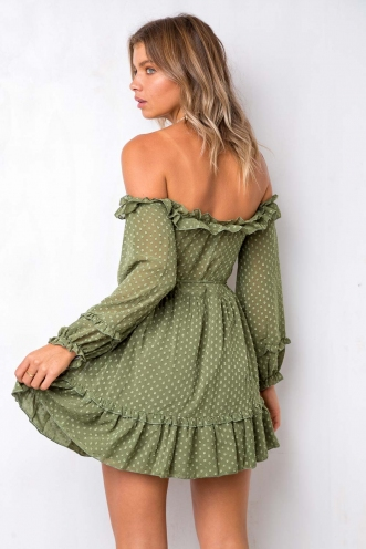 Sweet Treat Dress - Khaki