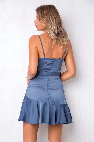 Silver Lining Dress - Metallic Blue