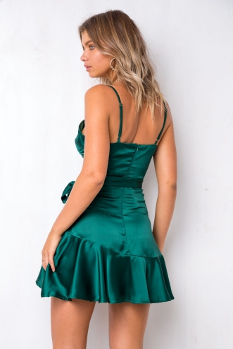 Silver Lining Dress - Emerald Green
