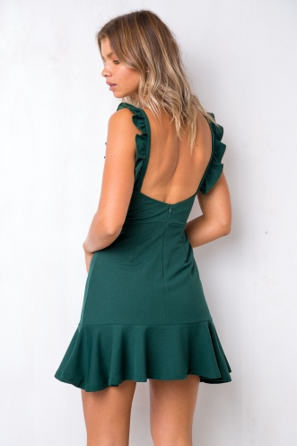 A Love To Remember Dress - Deep Green
