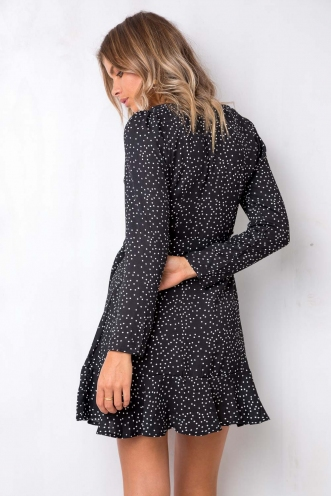 Spotted In Dress - Black Dot