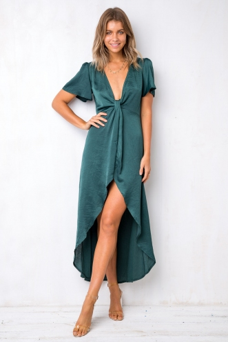 Wish Maker Dress - Emerald Green