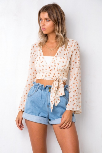 Flowerfield Top - Cream Floral