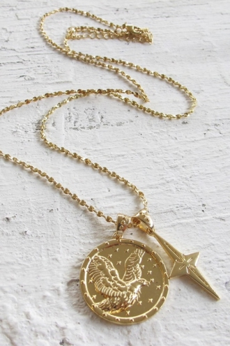 Minc Collections - Eagle Pendant Necklace - Gold