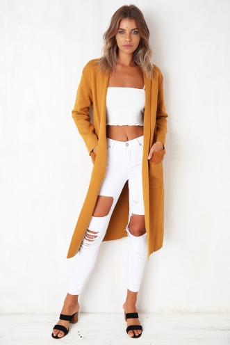 Long Gone Cardigan - Mustard