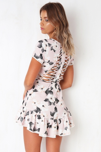 One Promise Dress - Pink Print
