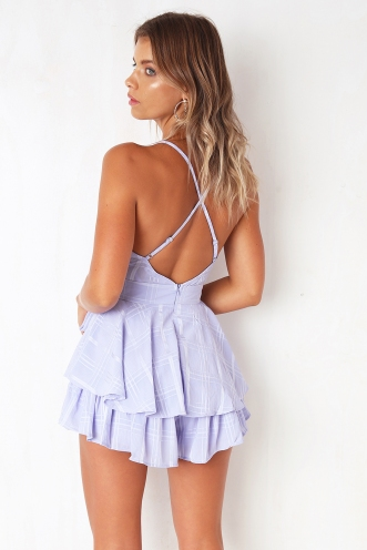 All Figured Out Playsuit - Lavender