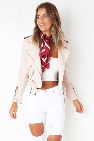 L-L-Love Jacket - Pink Suede