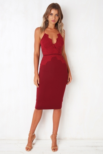Secret Keeper Dress - Burgundy