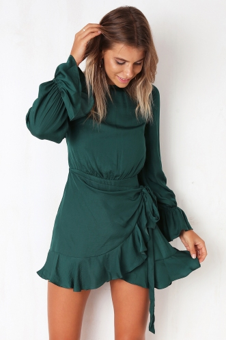 Thought About You Dress - Forest Green