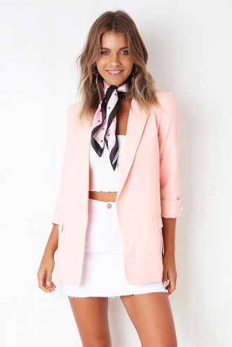 Close To You Blazer - Pink