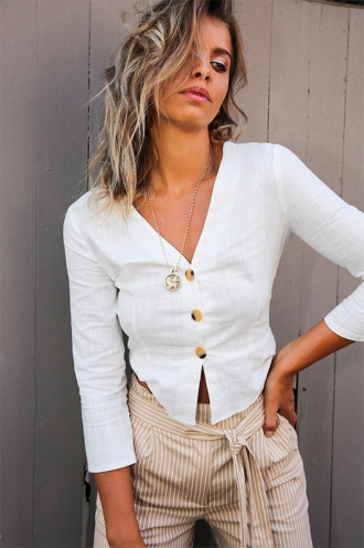 Siren Song Top - White