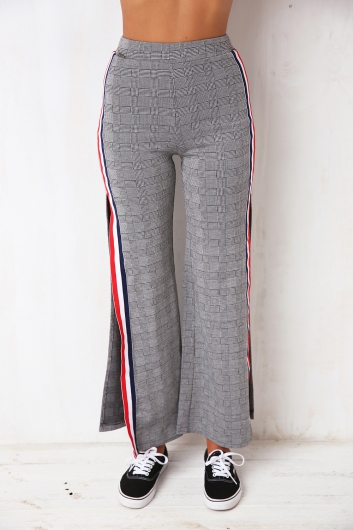 French Persuasion Pants- Black/White Chequered