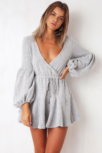 Snow Bunny Dress - Grey