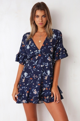 Need You Dress - Navy Floral