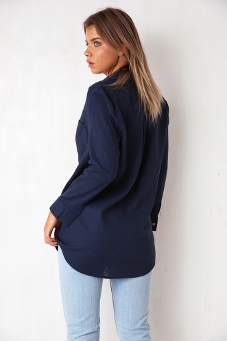 She's Mine Top - Navy