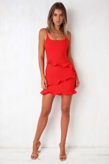 Love delay Dress - Red