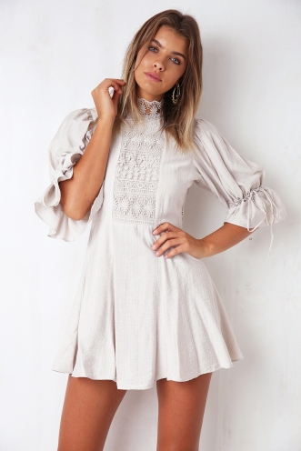 River Flow Dress - Beige