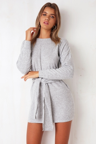 Dark Star Fleece Dress - Grey