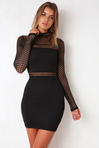 Night Timing Dress - Black