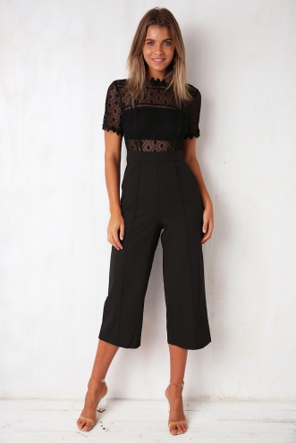 Chasing Dreams Jumpsuit - Black