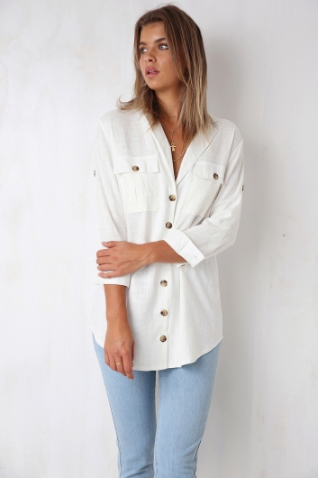 Sea Breeze Top - White Linen